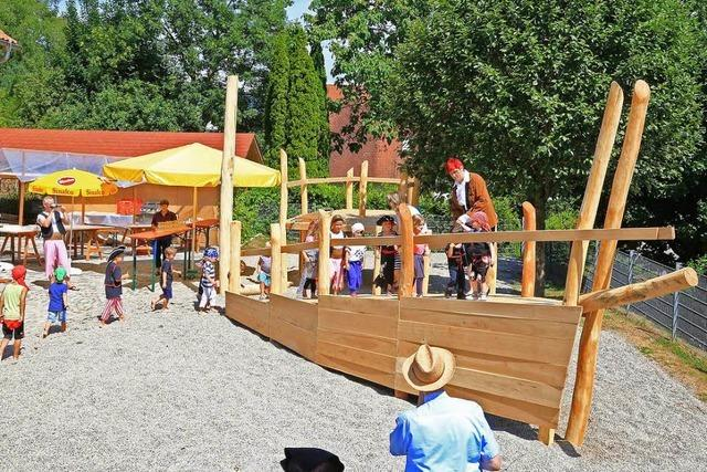 Der Kindergarten Wirbelwind in Ettenheimweiler hat jetzt ein Piratenschiff