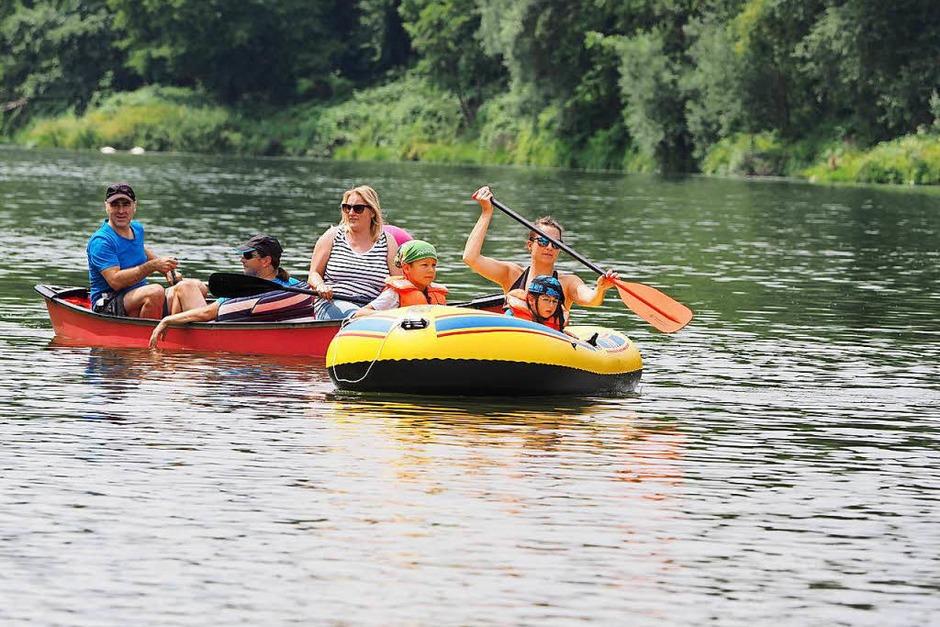 Spaß auf, im und am Wasser bot die Rheinregatta am Sonntag. (Foto: Jutta Geiger)
