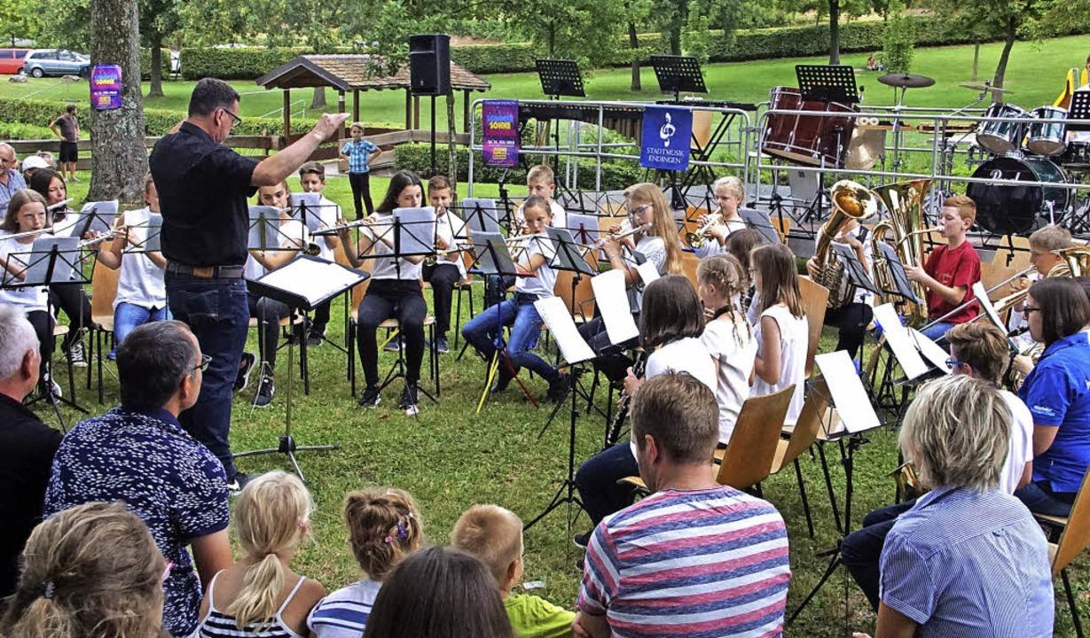 Für die Nachwuchsmusiker der Stadtmusi...r der Leitung von Martin Baumgartner.   | Foto: Ilona Hüge