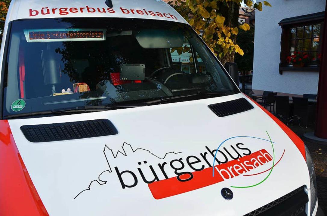 Ein Bürgerbus, wie es ihn in Breisach ...ald auch in Merzhausen unterwegs sein.  | Foto: Markus Donner