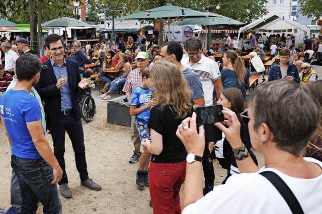 Beim Rieselfelder Stadtteilfest ging es auch um politische Forderungen