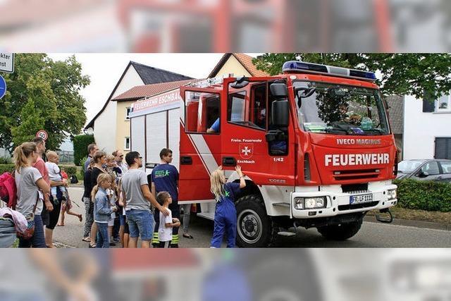 Wenn sich in Eschbach die Rettungsfahrzeuge knubbeln