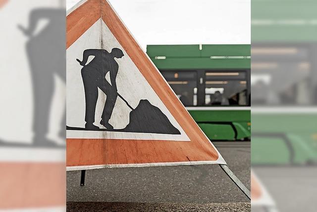 Tramgleise werden saniert