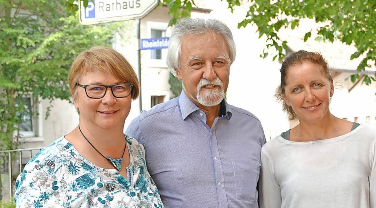 Mechthild Wallny (links), Josef Gyuricza, Alexandra Pfeiffer     Foto: Dorweiler
