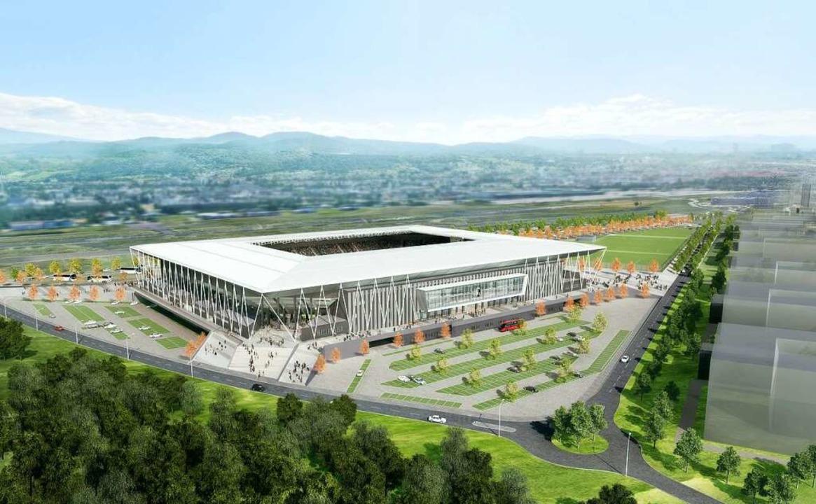 So soll es aussehen: Das neue Stadion des SC Freiburg.  | Foto: hpp Architekten/WillMore