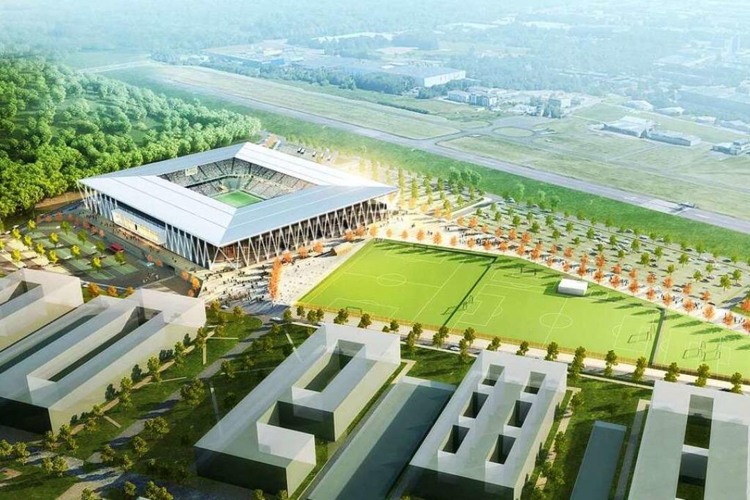 Eckig wie das alte Stadion und doch ganz anders.  | Foto: hpp Architekten/WillMore