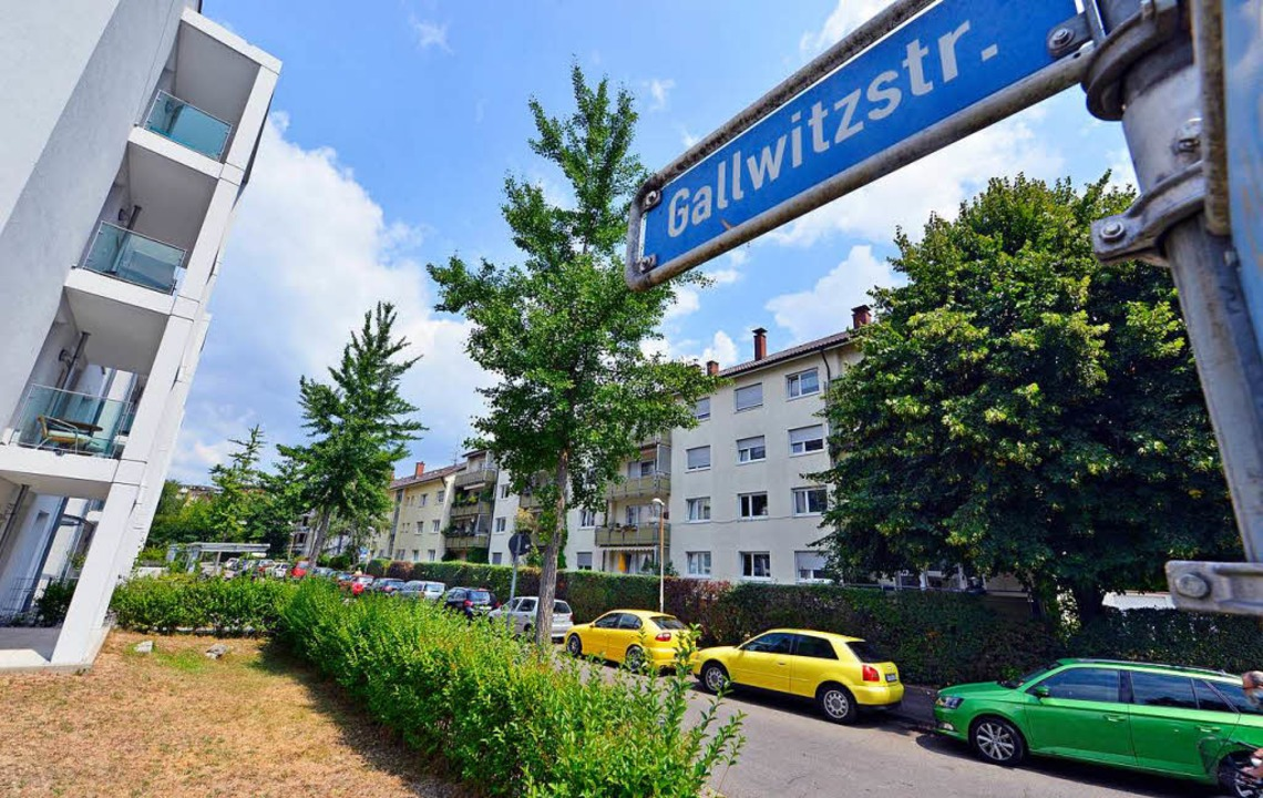 Aus der Gallwitzstraße soll die Matthias-Erzberger-Straße werden.    Foto: Michael Bamberger