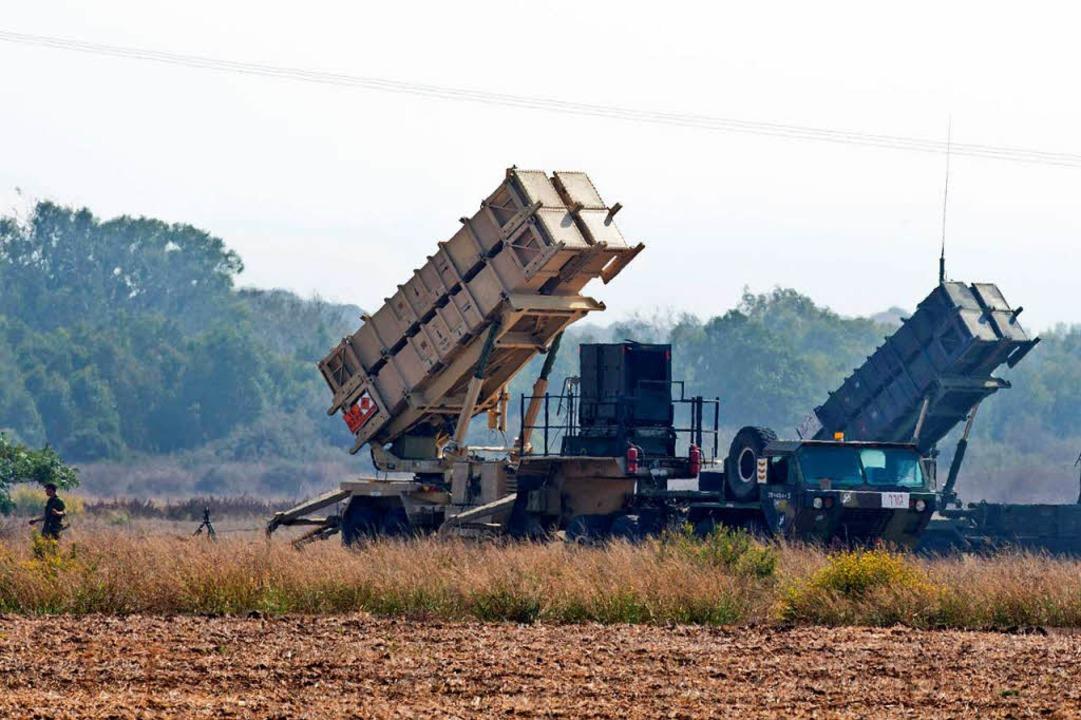 Ein Patriot-Abwehrsystem der israelischen Armee    Foto: AFP