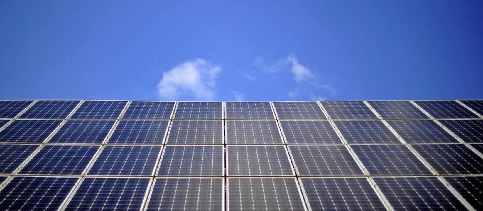 Energie aus der Sonne ist momentan das wichtigste Standbein für die BEGS  | Foto: Dpa