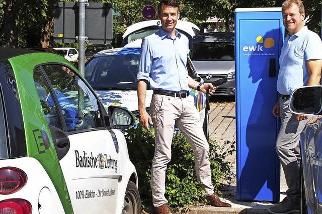 Weitere Stromzapfsäule in Kirchzarten