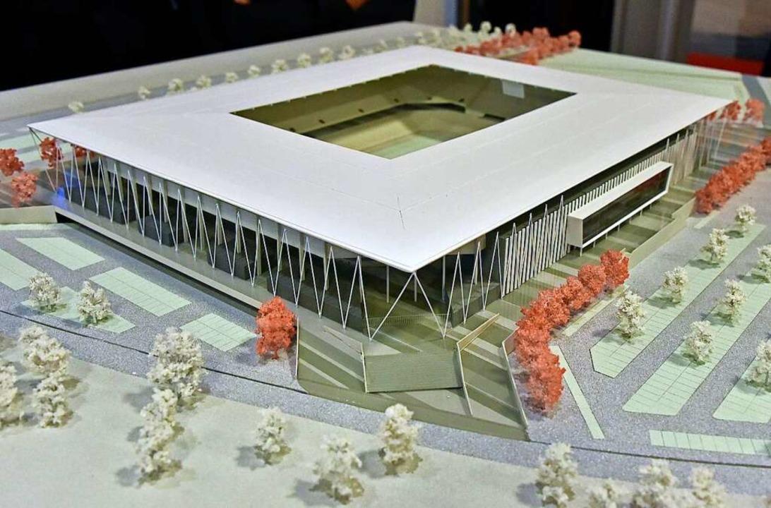 Im Herbst könnte die Baugenehmigung für das neue SC-Stadion vorliegen.  | Foto: Michael Bamberger