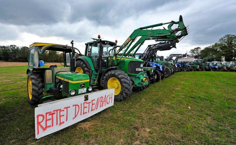 Freiburger Landbauer protestierten imm...l – hier im vergangenen Oktober.  | Foto: Michael Bamberger