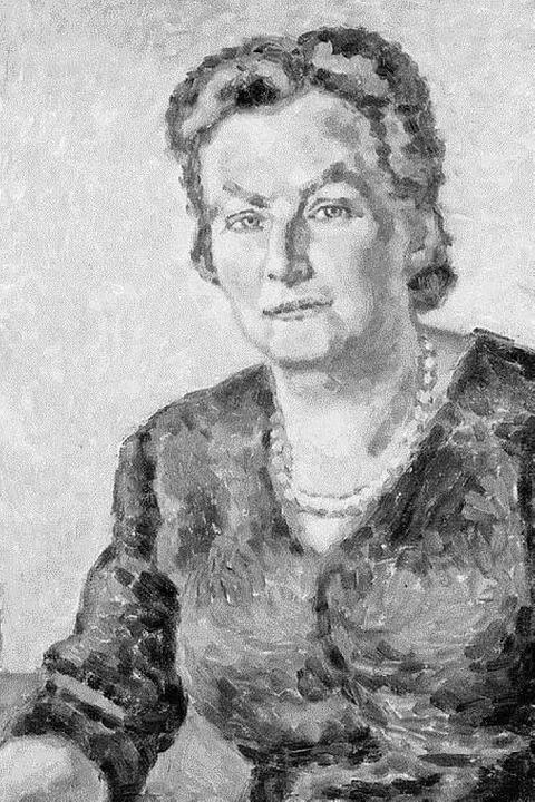 Ehrenbürgerin Martha Walz-Birrer (Ölge...us dem Jahr 1962)  statt Julius Brecht  | Foto: H. P. Vieser, Augustinermuseum