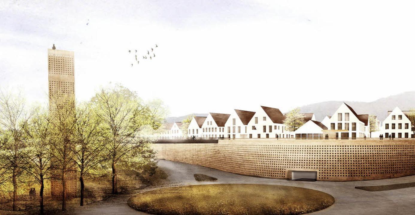 So könnte das nach Ansicht der Archite...as Areal Kronenrain künftig aussehen.   | Foto: Mono Architekten