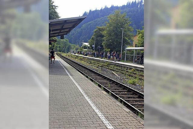 In Kollnau blieb der Zug liegen