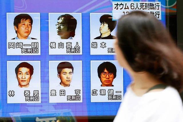 Japan richtet sechs weitere Mitglieder der Aum-Sekte hin