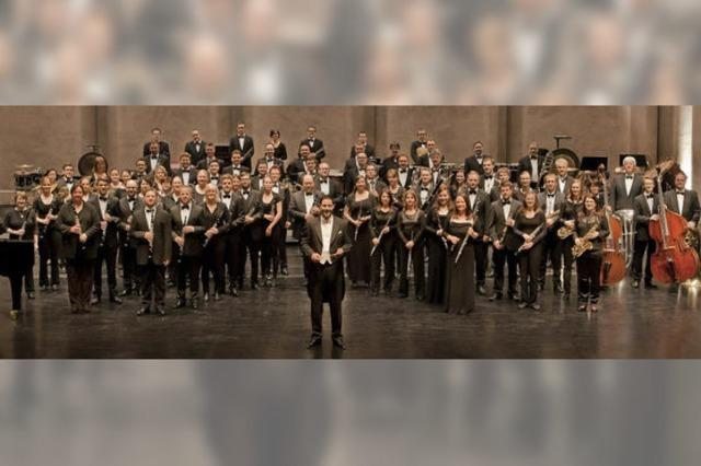 Das Landesblasorchester BW spielt symphonische Werke auf der Landesgartenschau