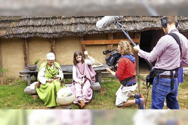 Filmteam dreht im Alamannen-Museum