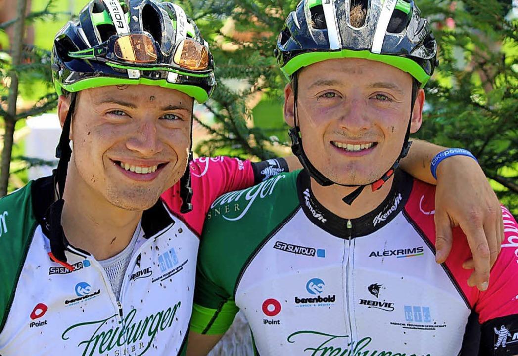 Trainingskumpel: Simon Gutmann (links) und Heiko Hog aus Breitnau  | Foto: zvg