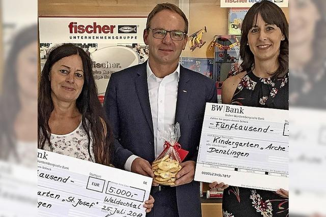 10 000 Euro für zwei Kitas in Denzlingen