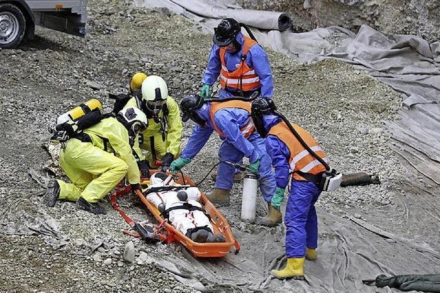 Roche probt den Notfall in der Kesslergrube