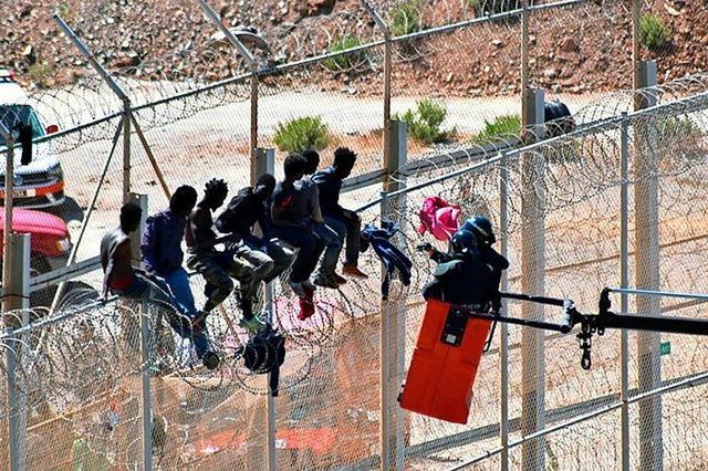600 Migranten stürmen Zaun in spanischer Nordafrika-Exklave