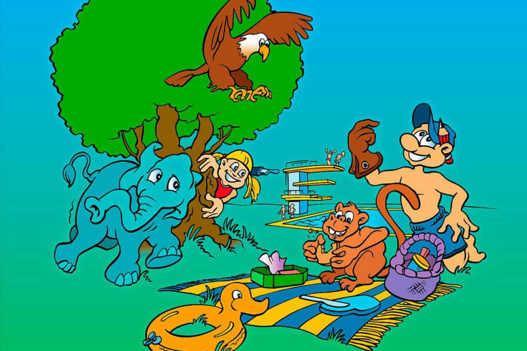 Tiererlebnis oder Badespaß – mit... Familien in den Ferien viel erleben.   | Foto: Zeichnung: Terelle