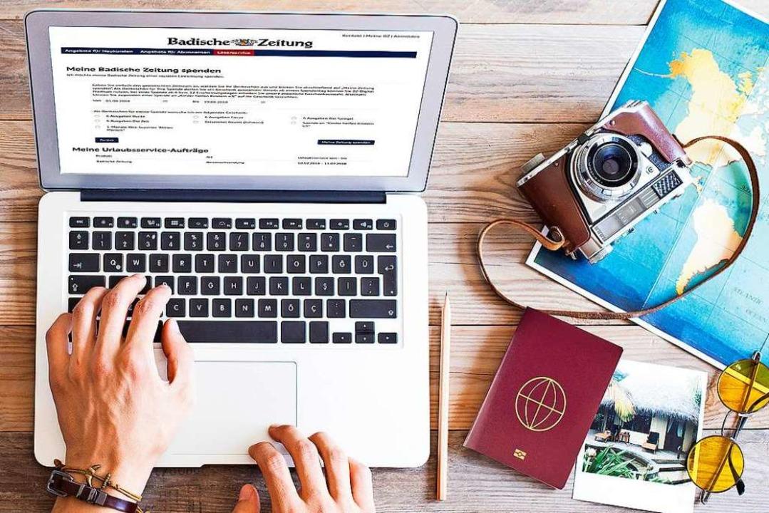 Einfach, bequem und schnell: der neue BZ-Urlaubsservice  | Foto: stock.adobe.com, Montage: BZ
