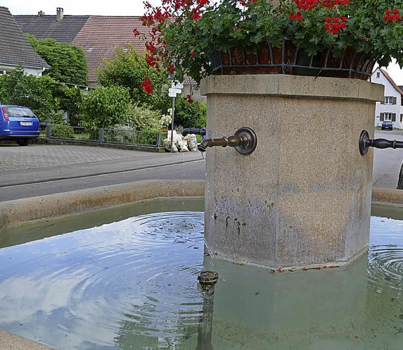 Auch am Brunnen beim Anker in Efringen...en waren schon Großabnehmer zu sehen.     Foto: Langelott