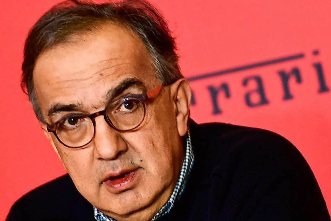 Starb im Alter von 66 Jahren: Sergio Marchionne   | Foto: AFP