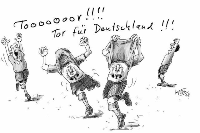 Es war vielleicht ganz gut, dass Deutschland kaum Tore schoss ...
