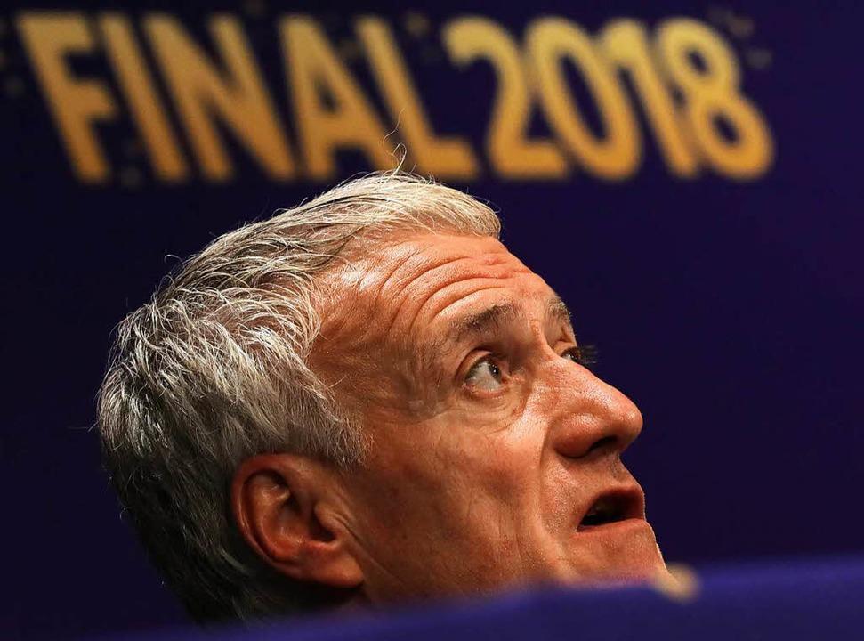 Frankreichs Trainer Didier Deschamps vor dem WM-Finale gegen Kroatien.  | Foto: dpa