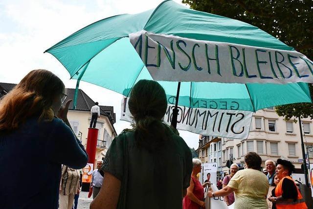 Kundgebung in Lörrach für eine menschliche Flüchtlingspolitik