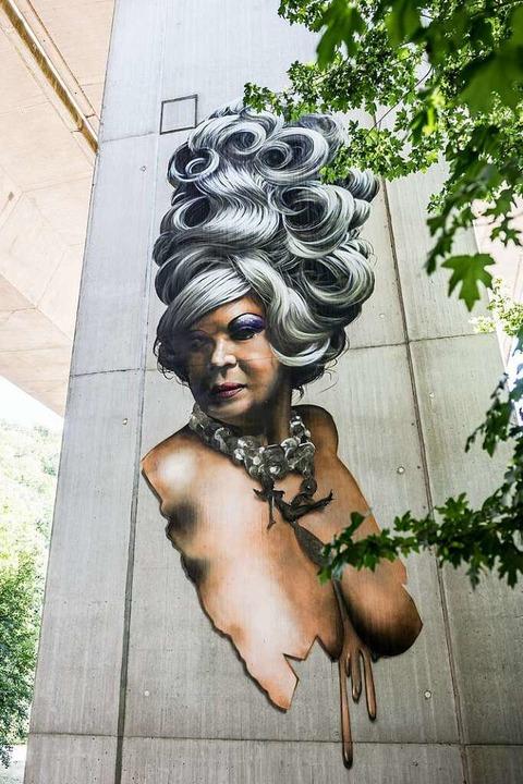 Eins der Murals in der Bridge Gallery.  | Foto: Daniel Schoenen