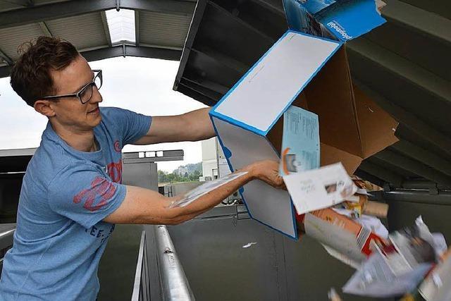 Der große Ansturm auf den Recyclinghof in Herten bleibt aus