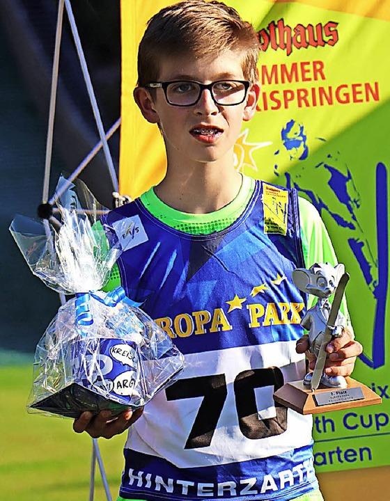 Zweiter beim internationalen Youth-Cup: Jannick Faisst vom SV Baiersbronn    Foto: dieter maurer