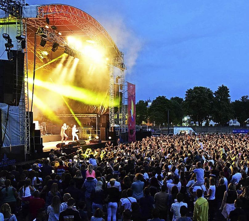 Das Conc' Air Festival in Saint-...e Musikfans aus dem Dreiländereck an.   | Foto: Guy Greder