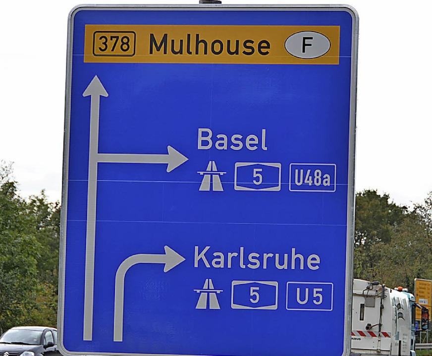 Die Anschlussstelle Müllheim-Neuenburg wird umgebaut.  | Foto: Jacob