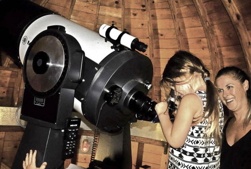 Die vierjährige Anni war die erste von... in der Marcher Sternwarte erblickten.  | Foto: Herbert Geisler