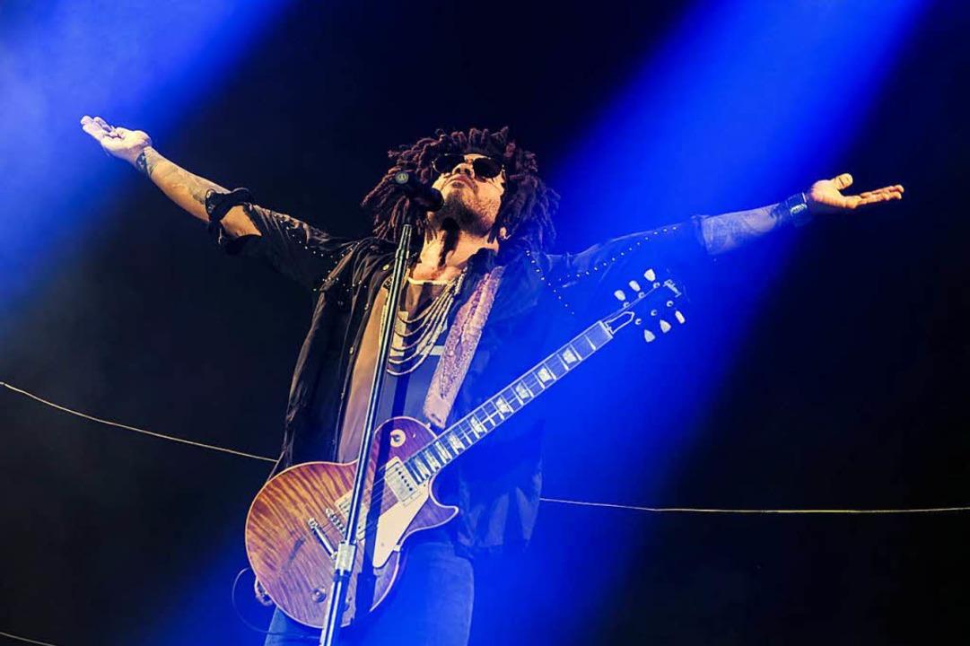 Die Huldigung  eines Rockstars: Lenny Kravitz in Colmar  | Foto: Benoit Facchi