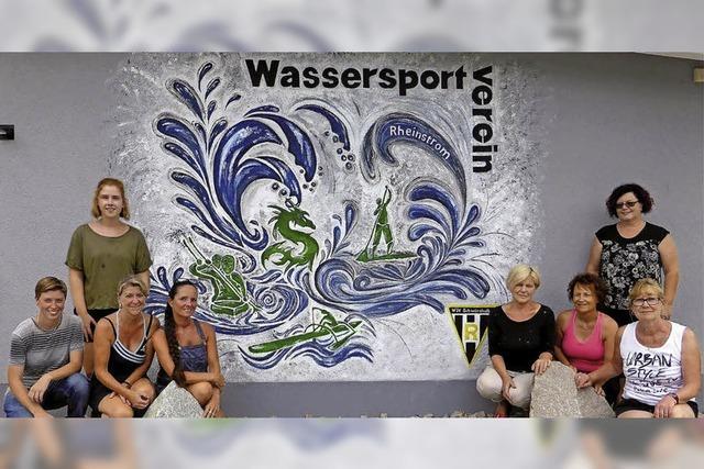Ein Wandbild belebt den Wassersport