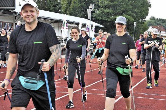 Nordic Walking in der Gluthitze