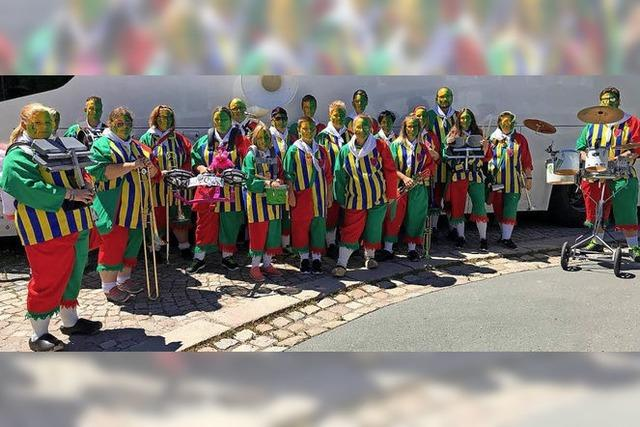 Lus-Chaibe als Botschafter der Guggenmusik im Erzgebirge