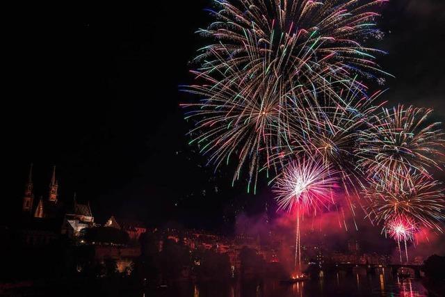 Feuerwerk und Flamingo: Entspannte Stimmung bei der Bundesfeier in Basel