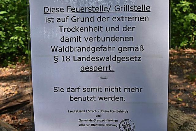 Grillen im Wald ist vorerst verboten