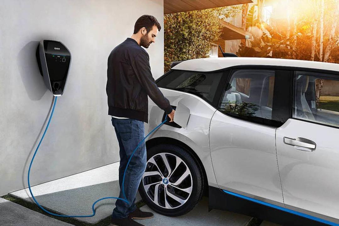 BMW wirbt damit, dass der i3 mit allen...n größter Not auch an einer Steckdose.    Foto: PR