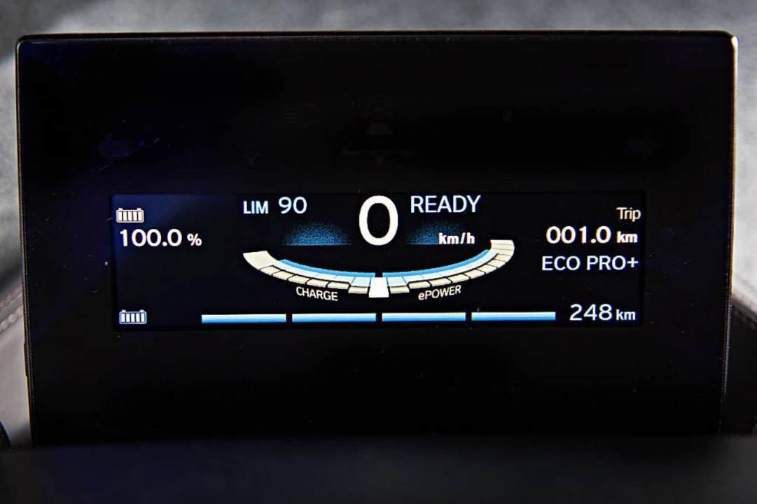 So sieht's aus, wenn der BMW i3 voll geladen ist.    Foto: PR