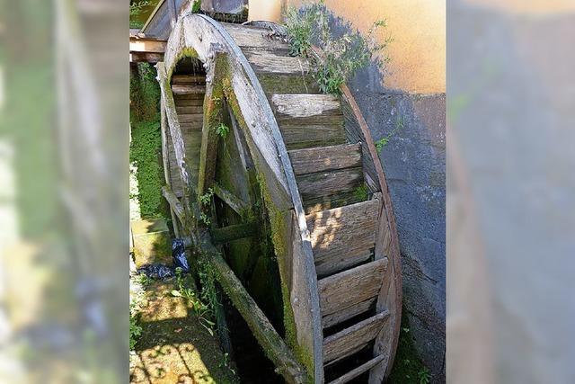 Das Rad der Mühle soll erhalten werden