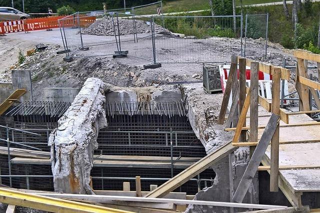 Brückenbau im Verzug