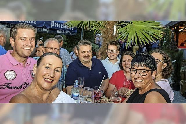 Spritzige Sommerweine bei mediterranem Ambiente